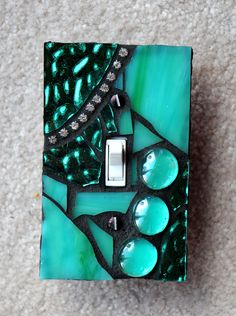 Your place to buy and sell all things handmade Mosaic Crafts, Mosaic Projects, Mosaic Art, Mosaic Tiles, Stained Glass Designs, Mosaic Designs, Mosaic Madness, Fused Glass Art, Light Switch Covers