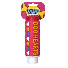 SWEET SHOP HEARTS SQUEAKY DOG TOY - Little Pooch Dog Boutique £2.99