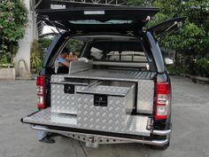 VW Amarok Chequer Plate Tray Bins