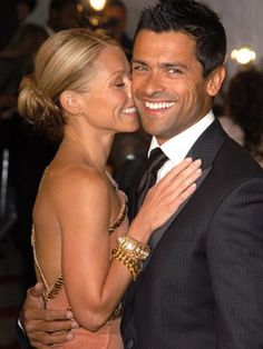 Kelly Ripa and Mark Consuelos Years. One of my favorite celeb couples Famous Couples, Couples In Love, Power Couples, Perfect Couple, Beautiful Couple, Cute Celebrities, Celebs, Kelly Ripa Mark Consuelos, Cute Celebrity Couples
