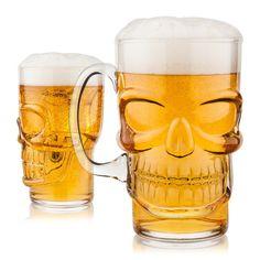Skull Binge Glass Mason Jar Tankard 13 cm HIGH mug metal Lid /& Straw Gothique