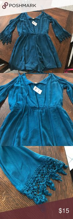 Charlotte Russe romper Charlotte Russe romper. NWT. Medium. Turquoise Charlotte Russe Pants Jumpsuits & Rompers