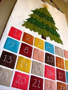 sewn felt advent calendar, don't follow the link, image reference only.