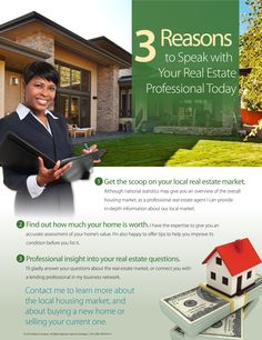 Talk to your Real Estate Agent!