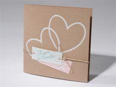 trouwkaart, eco, hartjes, labels
