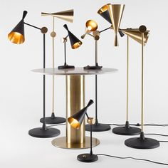 Shop Tom Dixon Furniture at YLiving and the best in modern furniture and accessories, plus no Sale Tax. Tom Dixon Beat, Copper Lighting, Modern Lighting, Lighting Design, Art Deco Furniture, Modern Furniture, Beach House Lighting, Metal Table Lamps, Light Beam