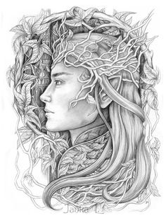 Descended from  the last group of Elves  invited to Aman across the Sea, beyond the influence of Sauron, but who never completed the journey, settling in Doriath. After its fall, Oropher chose to remain in Middle Earth and established a Kingdom in Greenwood the Great.