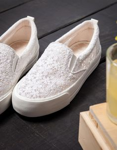 Bamba Encaje Monocolor - Zapatos - Bershka Colombia