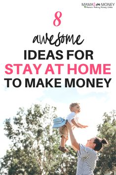 8 Ideas for Stay at Home Moms to Make Money - Mama's on Money Work From Home Tips, Stay At Home Mom, Make Money From Home, Way To Make Money, How To Make, Earn Money Online, Money Tips, Extra Money, Making Ideas