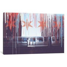 "East Urban Home 'Transit in Style' Graphic Art Print on Canvas Size: 12"" H x 18"" W x 0.75"" D"