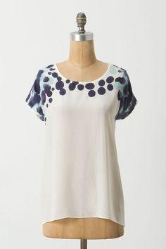 Azure Inkblot Silk Tee from Anthropologie - $138.00