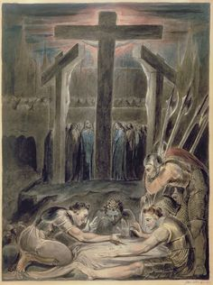 The Soldiers Casting Lots for Christ's Garments (1800)  William Blake.