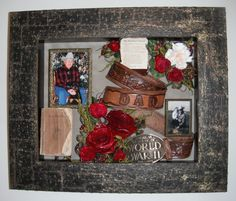 Dad Funeral Tribute Preserved Memorial flowers in shadow box //.facebook & shadow boxes for funerals | Here is the shadow box memorial that I ... Aboutintivar.Com