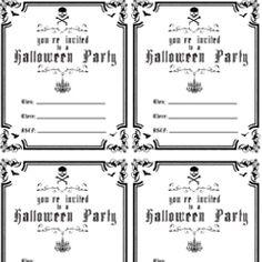 Free Printable Halloween Invitations – printable calendar