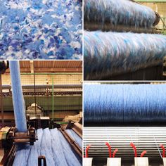 See how our carded fleece of mixed colours always creates that rich depth of shade, unique to J. C. Rennie & Co. Today we've been busy putting fleece locks of blues and whites onto the carding machine. Follow the link to find out more. Happy Woolly Friday everyone!