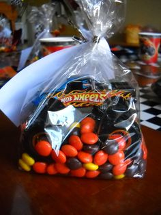 Monster Truck Party Favor:  (Cookie Bag, Peanut Butter Chocolate Candies & Monster Truck)