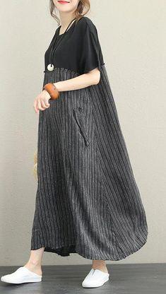 women-black-silk-linen-dress #plussizedresseshijab