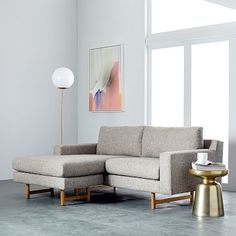 Eddy Sectional - Feather Gray (Deco Weave) #westelm