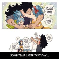 Father 's day gift - page by rboz Gale Fairy Tail, Fairy Tail Kids, Fairy Tail Funny, Fairy Tail Art, Fairy Tail Guild, Fairy Tail Couples, Fairy Tail Anime, Fairy Tales, Gajeel Et Levy