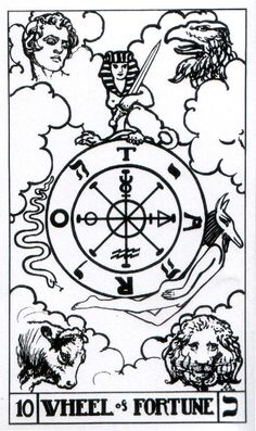 Wheel of Fortune - Builders of the Adytum Tarot (B.O.T.A. Tarot)