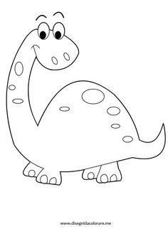 Cartoon Baby Dinosaur Coloring Page Quilting Designs Pinterest
