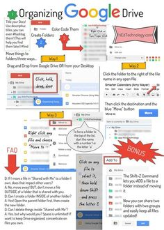 Organizing Google Drive                                                                                                                                                                                 More