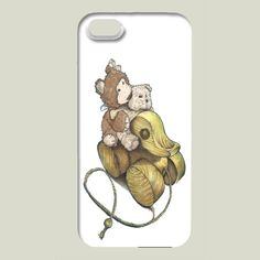 Fun Indie Art from BoomBoomPrints.com! https://www.boomboomprints.com/Product/buffykaufmanart/Road_Trip_Teddy/iPhone_Cases/iPhone_5_Slim_Case/ #boomboomprints #teddybear