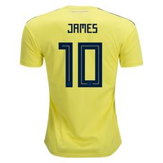 54ad1e54f21 James Rodríguez Colombia 2018 Home Jersey by adidas   2018 FIFA WorldCup  Kits at WorldSoccershop.