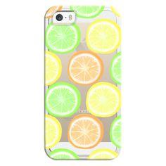 iPhone 6 Plus/6/5/5s/5c Bezel Case - Citrus Wheels - Transparent/Clear... ($35) ❤ liked on Polyvore