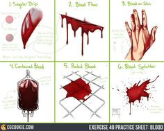 Sketchdump October 2016 [Blood] by DamaiMikaz (blood tutorial)