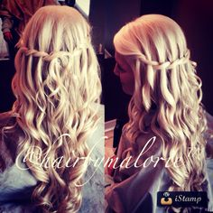 Waterfall braid #waterfallbraid #braid #hairbymalorie