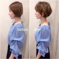 Pin on ヘアスタイル Japanese Short Hair, Korean Short Hair, Short Sassy Hair, Short Hair With Layers, Girl Short Hair, Short Hair Syles, Short Permed Hair, Short Hair Cuts, Curly Hair Styles
