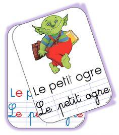Le petit ogre : affichettes et étiquettes - Chez Lutin Bazar