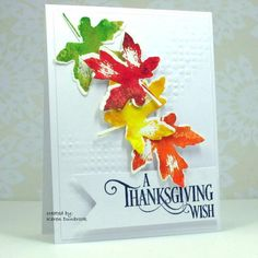 """Partial embossing: """"place your paper into an embossing folder and hit it with a rubber mallet. You will achieve random embossing on your card. I do it all the time.""""  card and guote by Karen Dunbrook"""