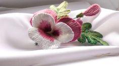 ОБЪЕМНАЯ ВЫШИВКА ГЛАДЬЮ     STUMPWORK FLOWER orquidea bordada