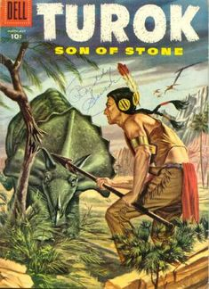 Dell - Dinosaur - Indian - Spear - Rocks