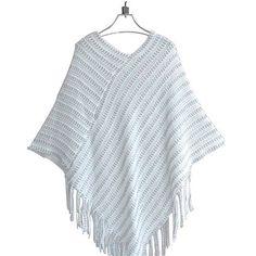 COCKCON Ladies Cape Coat Fringe Poncho Oblique Stripe Coat Bohemian Shawl Scarf