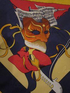 Authentic Hermes Scarf *Carnaval de Venise* detail Jacquaard weave