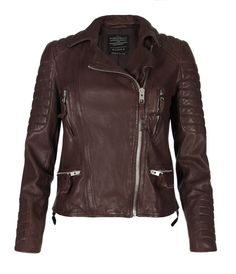 Want! Oxblood Jacket, Women, Leather, AllSaints Spitalfields  I must have this.   #alishopspinfest