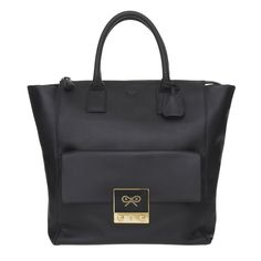 Coal Butter Leather Tiny Tim Tote Tiny Tim Anya Hindmarch AW12 Families