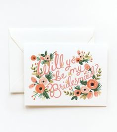 Will You Be My Bridesmaid? Boxed Note Card Set of 8