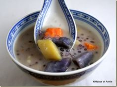 Bubur Cha Cha (A Nyonya dessert made with different types of sweet potatoes and yam)