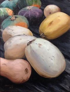 """Daily Paintworks - """"NYC Gourds"""" - Original Fine Art for Sale - © Stacy Weitz Minch"""