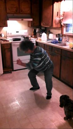 In this video posted earlier this month by Cheryl Atwood, a grandmother shows of her dance moves to Vanilla Ice's 'Ice, Ice, Baby' while cooking in the kitchen. This grandma should meet up with dancing Nana for a dance off. Tastefully Offensive, Bust A Move, Attitude Is Everything, Dance Routines, Let Your Hair Down, Ice Ice Baby, Funny Vines, Can't Stop Laughing, She Song