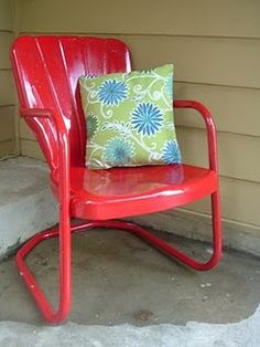 Vintage chair rescued from salvage and reinvented!