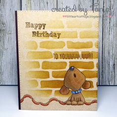 Little Art Cottage: Happy Birthday to youuuuuuuu! Belated Birthday Card, Happy Birthday, Birthday Wishes, Birthday Cards, Penny Black Karten, Penny Black Cards, Memories Box, Dog Cards, Bird Cards
