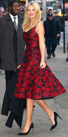 Look of the Day - December 18, 2014 - Ivanka Trump from #InStyle