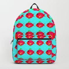 Gold fish pattern Backpack #backpacks #backtoschool #fish #goldfish #kids #pattern