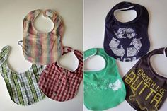 "When my son was born, I had the biggest distaste for baby bibs. I hated how ""babyish"" they looked, yet I knew how functional they were for drool, food, and so on. So, I came up with an alternative:..."