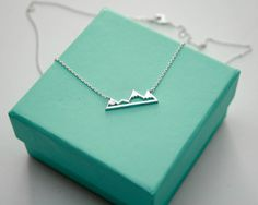 Silver Mountain Top Necklace Dainty Mountain by TinksbyJustine
